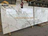 磨かれた白い大理石の壁のタイルか床の敷物