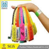 Bande de bracelets de plastique vinyle de bracelets d'identification de divertissement