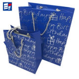 Saco de mão de papel personalizado Quility elevado para a compra e o presente