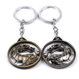 金属の死を免れないKombatの吊り下げ式のキーホルダーは合金のDrangon Keychainの宝石類のギフトを鳴らす