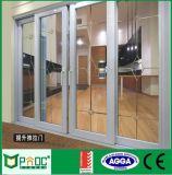 Energiesparende horizontale Schiebetür und Aluminium-Tür Pnocsd0028