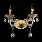 Lumière pendante en cristal d'art en verre d'or