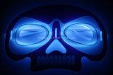 Halloween-Glühen-Schablone der Schädel-Form