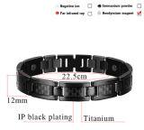 Bracelete Titanium magnético cor preta chapeada (CP-JS-TL-472)