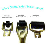 Cuidado de piel caliente de la terapia de Microneedle de la cara de la venta 3 en 1 rodillo de Derma