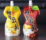 Plastiktülle-Beutel mit Schutzkappe für Saft-Paket