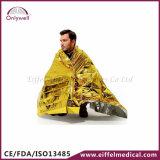 Одеяло скорой помощи серебра спасения медицинской аварийной ситуации золотистое теплое