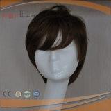 Schicht-voll maschinell hergestellte synthetische Faser-Frauen-Perücke
