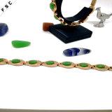 여자를 위한 큰 녹색 돌 지르콘 스테인리스 금 팔찌