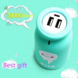 Mini Portable Battery 10000mAh Cute Milk Bottle Portable Power Bank Cartoon Power Bank