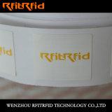 Etiqueta engomada imprimible de la Anti-Falsificación del código de barras de RFID Hf/NFC para el seguimiento cosmético