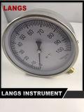 calibre de água do calibre de pressão da caixa de aço inoxidável do projeto de 074 115mm