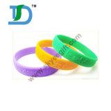 Wristband do silicone de Debossed, faixa de pulso gravada do silicone