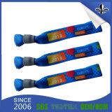 Персонализированные таможней Wristbands сплетенные тканью при пластмасса фиксируя слайдеры