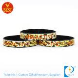 Bracelet de bracelet de silicium segmenté par arc-en-ciel en gros