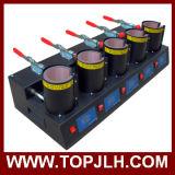 حرارة إنتقال طباعة إبريق تصميد 5 في 1 إبريق حرارة صحافة آلة