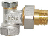 Válvula de cobre amarillo del radiador con la maneta