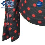 Grau mit Rot-Punkte Standplatz-Muffen-lange Hülsen-Tasten-Voile-Spitze-elastischer dünner Form-Dame-Bluse