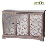Gabinete espelhado de madeira de 3 portas no revestimento de madeira da tração (RN1012)