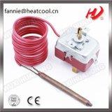 熱装置のためのプラスチック管が付いている毛管サーモスタット