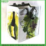 Bolso de totalizador tejido PP del vino, para 6 botellas