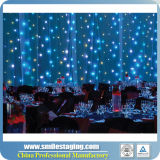 段階の背景幕の布のための1枚の三色の星のカーテンに付きRGB 3枚
