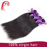 未加工加工されていないペルーの直毛の等級8Aのバージンの直毛