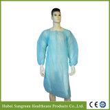 Wasserdichtes chirurgisches WEGWERFPET, CPE-Kleid mit gestrickten Stulpen