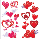 Tatuaje temporal del arte de la etiqueta engomada del tatuaje de la transferencia del agua del tatuaje del corazón