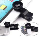 La lente macra granangular de cristal más nueva del teléfono móvil de la lente de ojo de 3 pescados de In1 Fisheye para la lente de Samsung Fisheye del iPhone