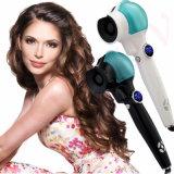 De nieuwe PRO Automatische Hulpmiddelen die van Styler van het Haar van de Rol van het Haar van de Krulspeld van het Haar van het Titanium het Dubbele Voltage van het Ijzer met de LEIDENE Vertoning van het Scherm krullen
