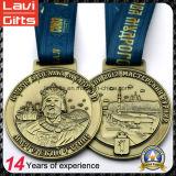 Medaglia di oro su ordinazione di vendita calda con il nastro commemorativo