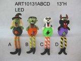 """11 """" Hx7.5 """" L blocco fornito di gambe acrilico -3asst di Halloween"""