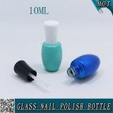 leere runde personifizierte Glas10ml nagellack-Luxuxflasche und weiße Schutzkappe