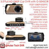 """Hete 3.0 """" Volledige HD1080p Auto DVR met de Camera van de Auto 5.0mega, g-Sensor, de Opsporing van de Motie, de Visie van de Nacht, WDR dvr-3001"""