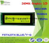 240X64 panneau lcd graphique, MCU 8bit, Ra8822, 22pin, module d'affichage à cristaux liquides de l'ÉPI FSTN