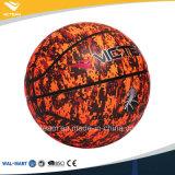 La coutume a estampé le basket-ball en cuir d'unité centrale en vrac de modèle de cercle
