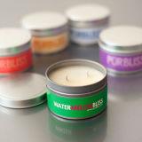 Qualitäts-förderndes Firmenzeichen-duftende runde Zinn-Kerzen
