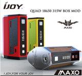 Ijoy Maxo 쿼드 18650 315W 상자 Mod, 첫번째 쿼드 18650 상자 Mod Ijoy Maxo