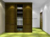 2つのカラー(UL-WR055)の2017現代デザイン寝室の家具の木のワードローブ