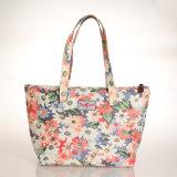 국화 패턴 PVC 화포 여자 끈달린 가방 (99189-1)