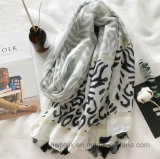 Novo Customized Zebra Ink Printing Thin Lady's Cotton Scarf (HWBC32)