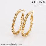 Ювелирные изделия Xuping 29372 способов просто отсутствие обруча серьги золота камня 18k большого