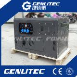 V-tweeling Diesel van de Enige Fase van de Cilinder 8kw Generator met Wielen (DG12000SE)