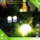 Bola impermeable de la luz de luna del RGB LED de la Navidad de la alta calidad
