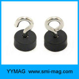 De Zwarte Rubber Met een laag bedekte Magneet van uitstekende kwaliteit van de Pot van het Silicone