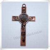Katholiek Dwars, Godsdienstig Kruis, het Kruisbeeld van het Metaal, het Kruis van het Metaal (iO-Ap242/243/244/245/246/247)