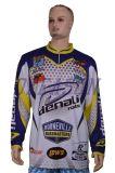 Chemises à séchage rapide de pêche de Subliamtion de longue chemise d'OEM (F002)