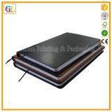 Cuaderno suave de encargo con la cubierta de cuero del cuaderno