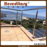 Подгоняйте перила лестницы нержавеющей стали балюстрады трубы конструкции внешние (SJ-H2065)
